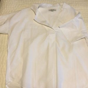 Madewell White Courier Button Back